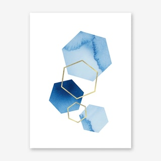 Blue Geometric Art Print
