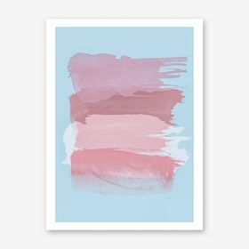 Pink Brush Strokes Art Print