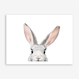 Peekaboo Bunny Art Print