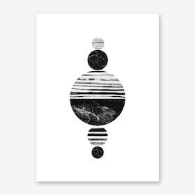 Stripes and Circles Art Print