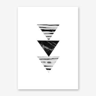 Stripes and Triangles Art Print