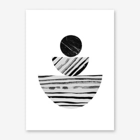 Stripes and Marble Art Print