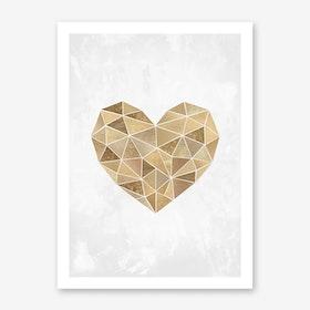 Mosaic Heart Art Print