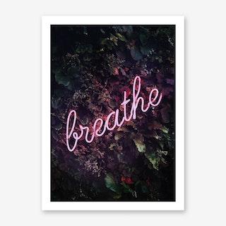 Breathe Neon Art Print
