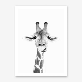 Happy Giraffe Art Print