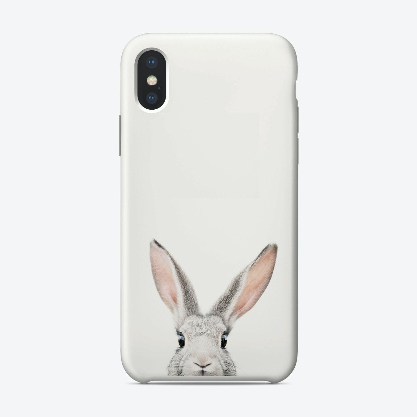 Peekaboo Bunny iPhone Case