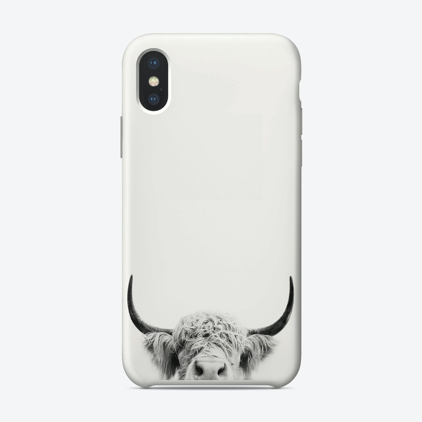 Peeking Cow BW iPhone Case