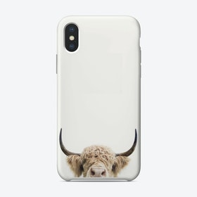 Peeking Cow iPhone Case