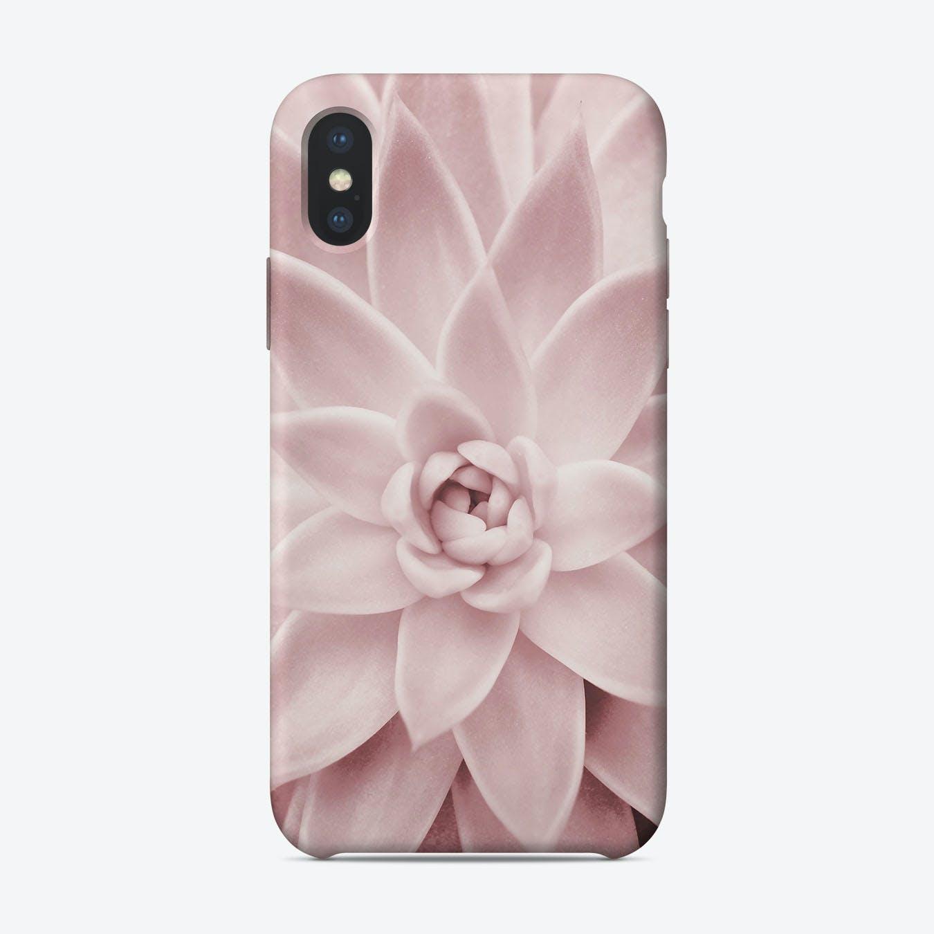 Pink Succulent iPhone Case