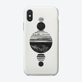 Stripes and Circles iPhone Case