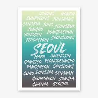 Seoul Neighborhoods Art Print