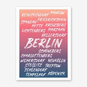 Berlin Neighborhoods Art Print