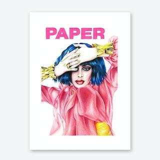 Kylie Jenner Paper Magazine Art Print