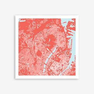 Copenhagen in Pink Art Print