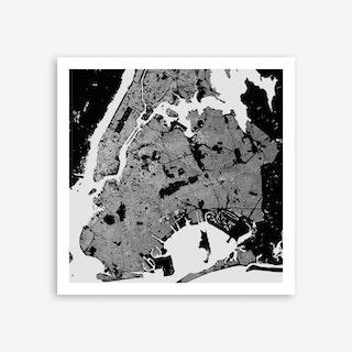 New York in Black Art Print