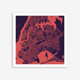 New York in Purple/Night Art Print