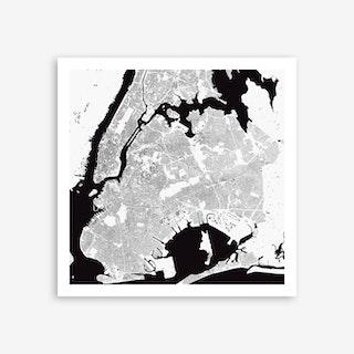 New York in White Art Print