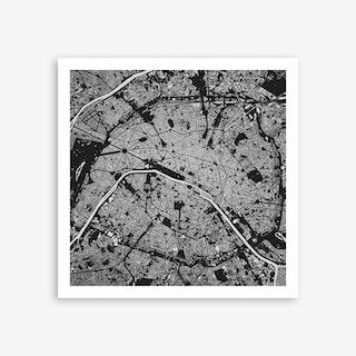 Paris in Black Art Print
