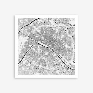 Paris in White Art Print