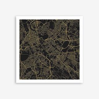 Rome in Yellow (Traffic) Art Print