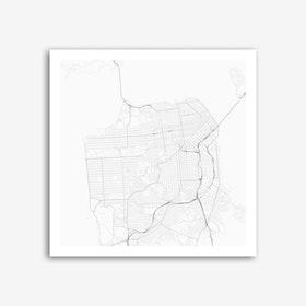San Francisco in White (Traffic) Art Print