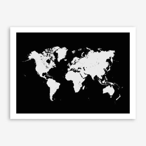 World Map in Black