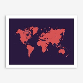 World Map in Purple