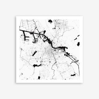 Amsterdam White Art Print