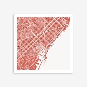 Barcelona Pink Art Print