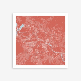 Berlin in Pink Art Print