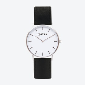 36mm Watch in Silver with Pinatex Strap