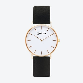 36mm Watch in Gold with Pinatex Strap