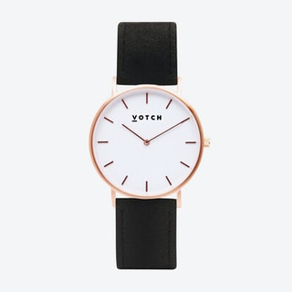 36mm Watch in Rose Gold with Pinatex Strap