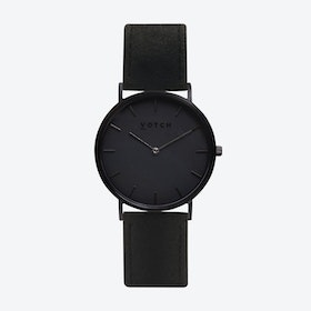 36mm Watch in Black with Pinatex Strap