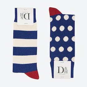 Blue spots & Stripes 2 Pack (41)