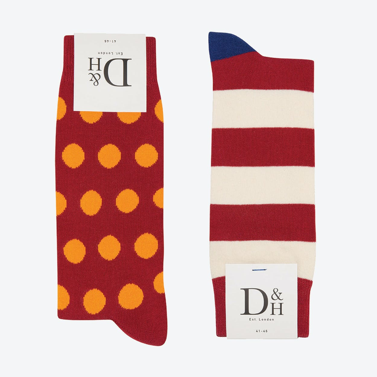 Red spots & Stripes 2 Pack (41)
