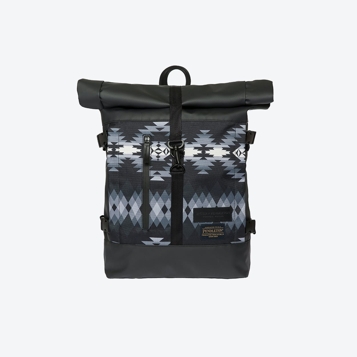 Hiker Roll Top Backpack in Black
