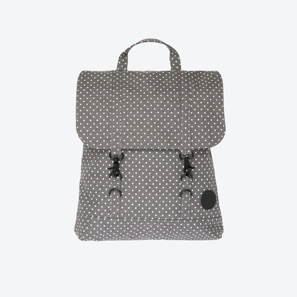 City Backpack Mini in Melange Grey & White Dot