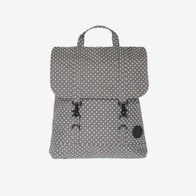 City Backpack Mini in Melange Grey   White Dot bb43844df199e