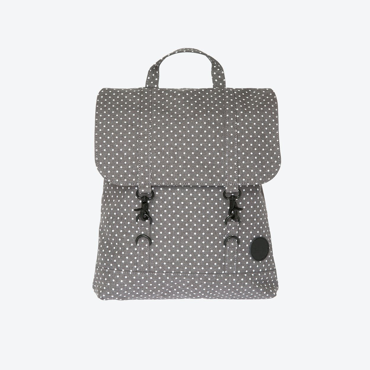 City Backpack Mini in Melange Grey & White Dot