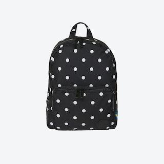 LS Gym Backpack Mini in Black & White Dot