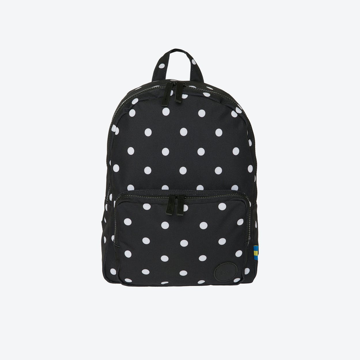 LS Gym Backpack Mini in Black & White Dot