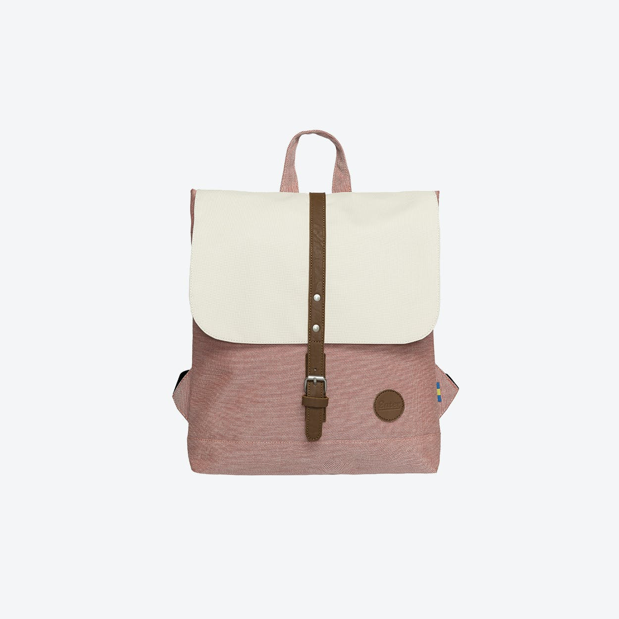 Backpack Mini - Melange Red/Natural Top