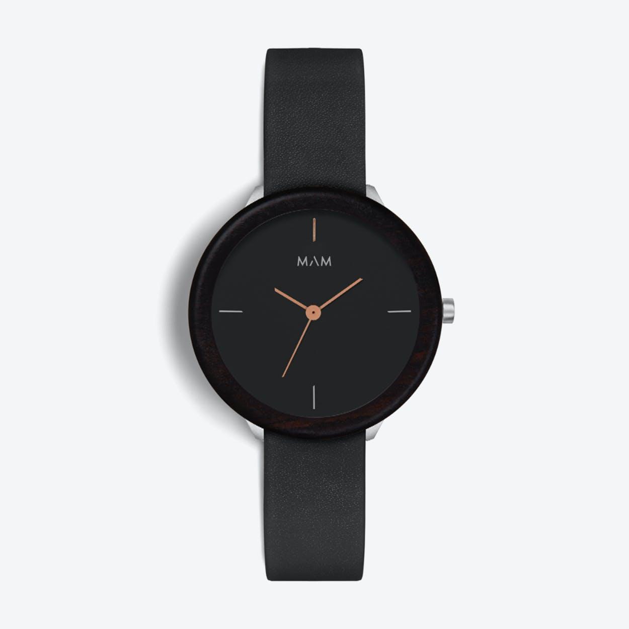 Stainless Dark Ebony Night Watch