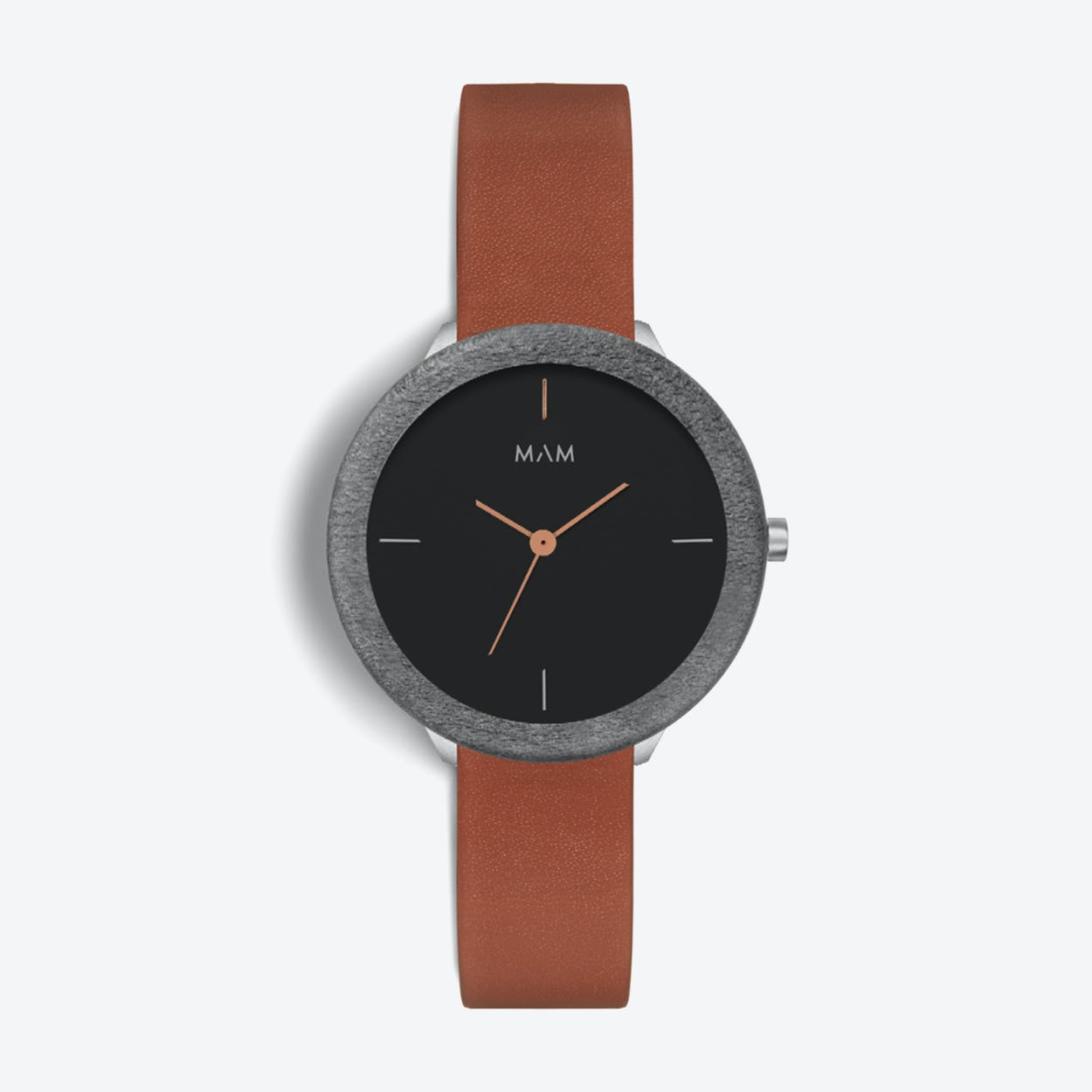 Stainless Dark Maple Fauve Watch