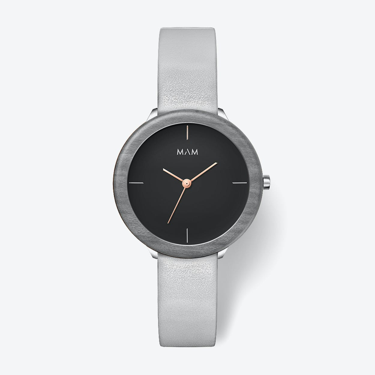 Stainless Dark Maple Grey Watch