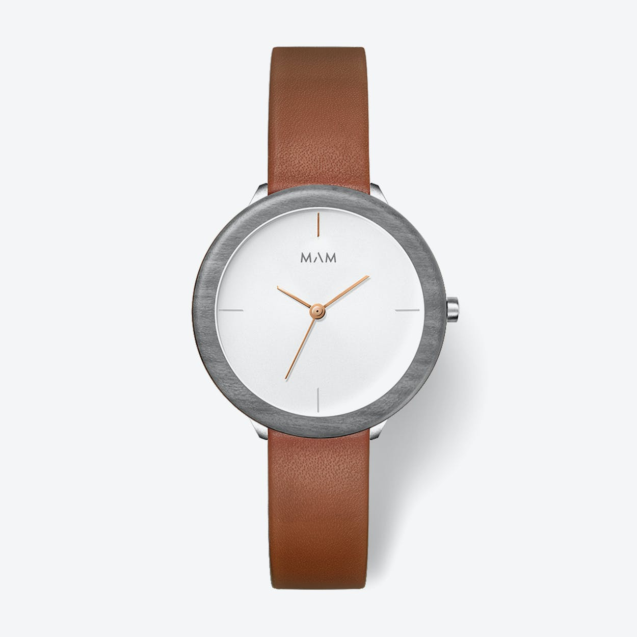 Stainless Light Maple Fauve Watch