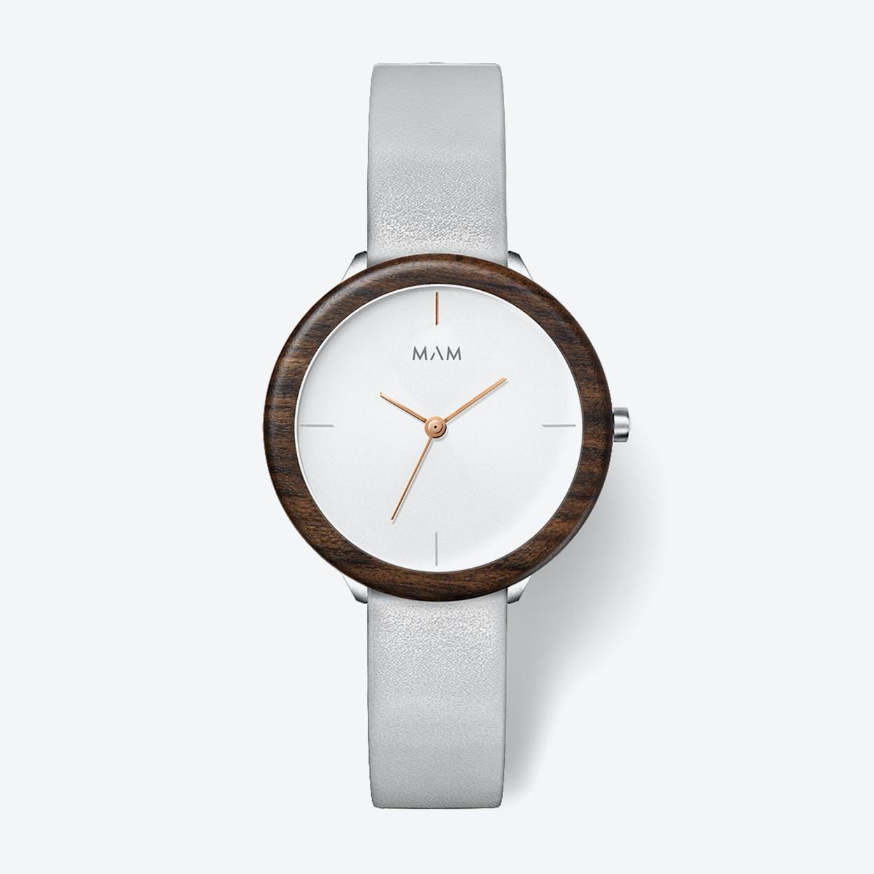 Stainless Light Teak Grey Watch