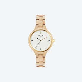 Silt Wooden Watch in Light Wood and White Face 34mm