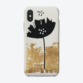 Black Poppy Phone Case